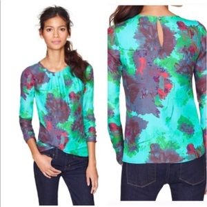 NWOT J Crew Hothouse floral top size 0